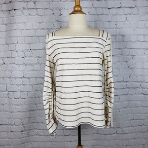 Anthro Postmark Contrast Striped Top XS